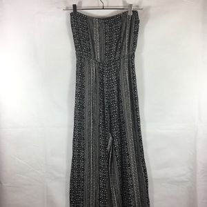 Forever21 Baltic Print Strapless Jumpsuit
